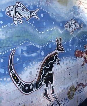 Newtown, Sydney. Aboriginal mural.