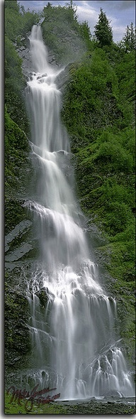 Bridal Veil Falls in Keystone Canyon, just a few miles north of Valdez, Alaska