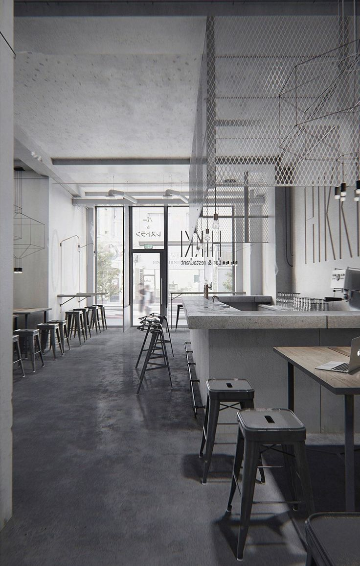 hikki is a gastronomic japanese restaurant with bar located in osaka japan cafe interiorsrestaurant - Gray Cafe Interior