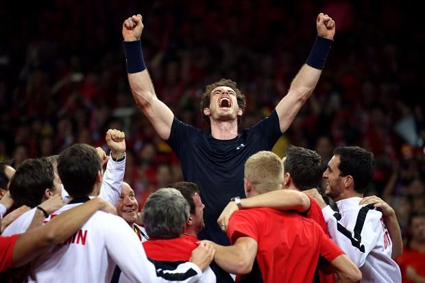 An inspired Andy Murray has led Great Britain to their first Davis Cup triumph for 79 years. He beat David Goffin in a high-quality singles rubber, to hand Britain an unassailable 3-1 lead in the final against Belgium. Murray triumphed 6-3, 7-5, 6-3 and joins John McEnroe and Mats Wilander as the only men to have an 8-0 singles record in a Davis Cup year. Add three doubles victories alongside Jamie, his brother, and he has won 11 times in the 2015 cup.