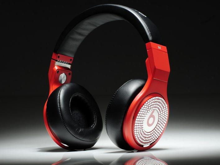 Monster Beats By Dr Dre Pro Headphones Red Black Diamond