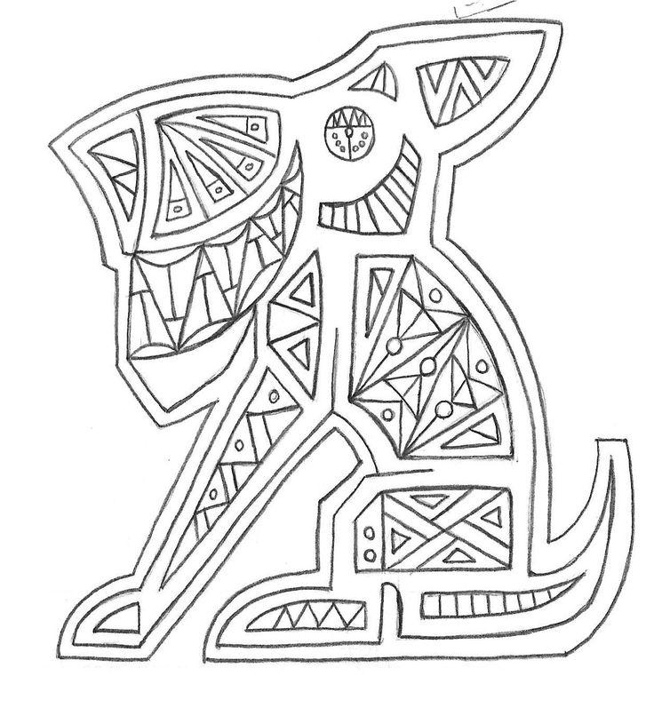 perro sentado asimétrico_diseño geometrico