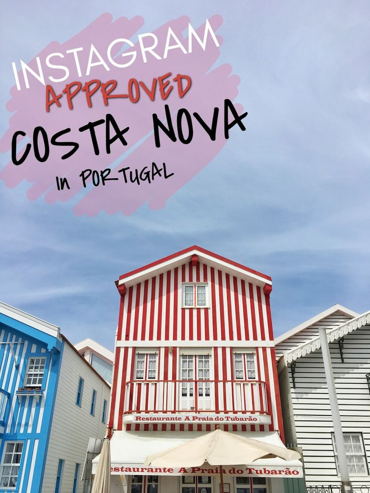 Absolutely amazing and colorful Costa Nova, Aveiro in Portugal. How to get there and more travel tips on my blog. www.ejnets.com #costanova #aveiro #portugal #travel #travelling #traveltips #blog #blogger #travelblogger #colorful #beautifuldestinations