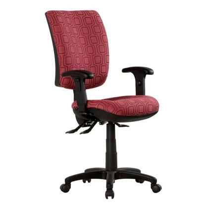 T3 Custom Task Chair - The T3 office chair range fits in with the diverse way people work today  The ergonomic design of the T3 corporate task & desk office chair is focused on providing healthy posture variation and body movement through its fully adjustable features.  Features: - Easy to use fully ergonomic seat and back tilt - Dual density moulded seat cushion - 3 lever adjustment mechanism - Ratchet back - Full 5 year warranty - Custom fabric