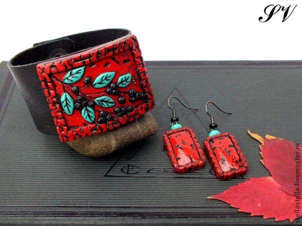 Создаем браслет из полимерной глины на кожаной основе - Ярмарка Мастеров - ручная работа, handmade