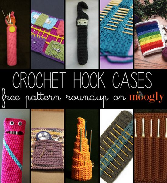 Crochet Hook Cases - lots of free Patterns on our site                                                                                                                                                                                 More