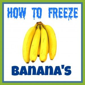 Learn various ways of how to freeze banana's. #bananas