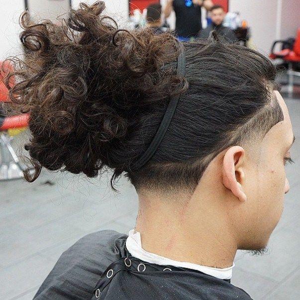 Crazy Long Tied Up Hair Long Hair Fade Long Hair Styles Men Undercut Long Hair