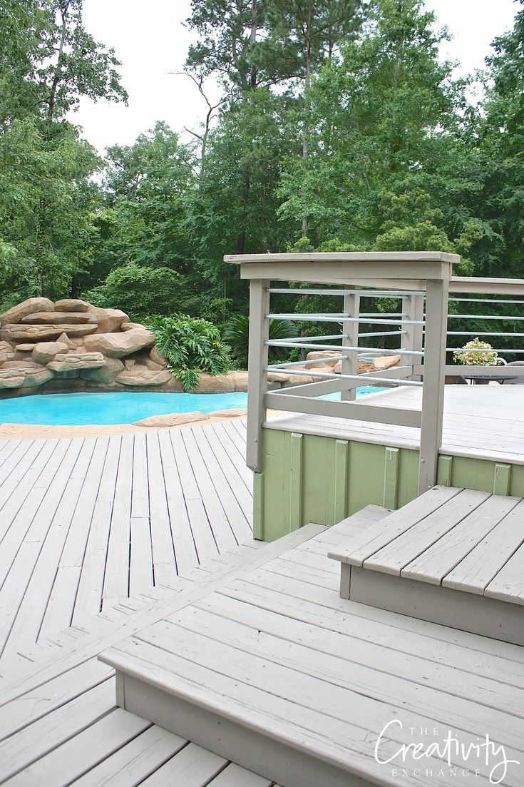 Best paints to use on decks and exterior wood features for Garden decking features