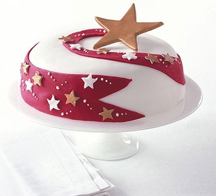 Shooting star celebration cake