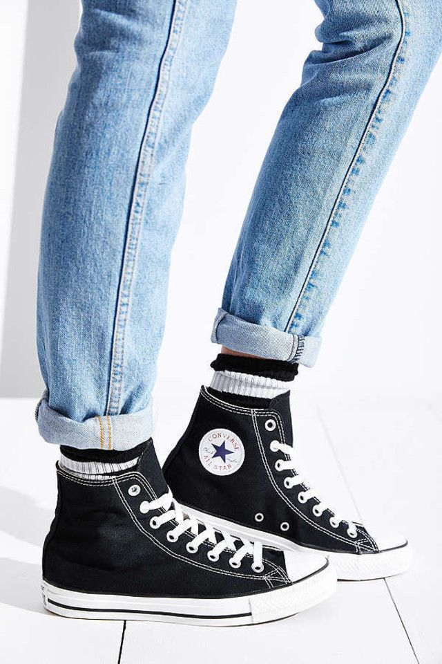 15 Black Sneakers That Go With Everything In Your Closet - $55 Converse Chuck Taylor All Star High Top Black Sneakers