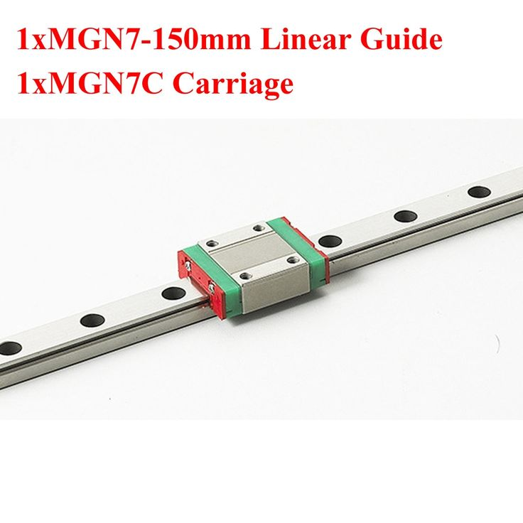 14.85$  Buy now - http://alin5k.shopchina.info/go.php?t=32699444524 - MR7 7mm Mini MGN7 Linear Guide 150mm Rail With MGN7C Linear Block Carriage For Cnc 14.85$ #aliexpress