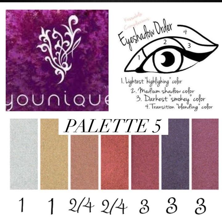 How easy is this!!!!  Follow the guide to create amazing eyes!!!  Addiction Palette #5 is simply beautiful! BriannasBeautyCounter.com