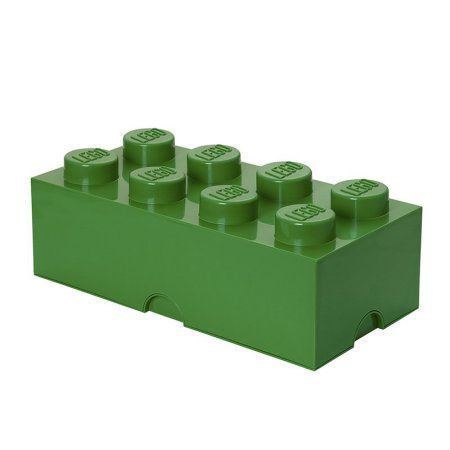 Lego Storage Brick 8 Dark Green, Multicolor