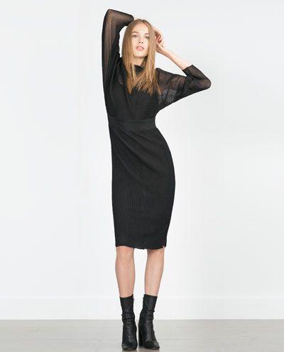 Image 1 of FINE PLEAT DRESS from Zara
