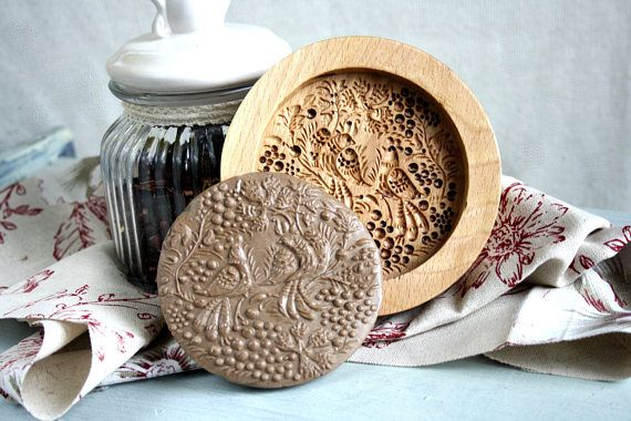 Wood Mould Cookies Stamp Personalized Embossing Bake