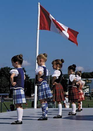 Young highland dancers of Nova Scotia
