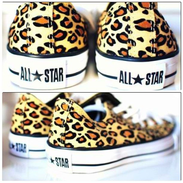 Cheetah print converses in this exact color
