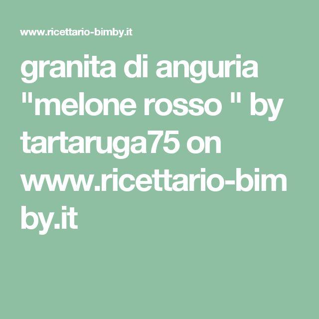 """granita di anguria """"melone rosso """" by tartaruga75  on www.ricettario-bimby.it"""