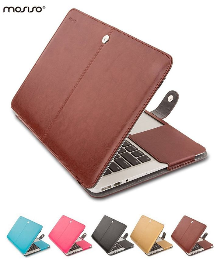 MOSISO Book Cover for Apple Macbook Air 13 PU Leather Sleeve Book Case for Mac book Pro 13 Retina 13.3 Laptop Folio PU Case Hot #Affiliate