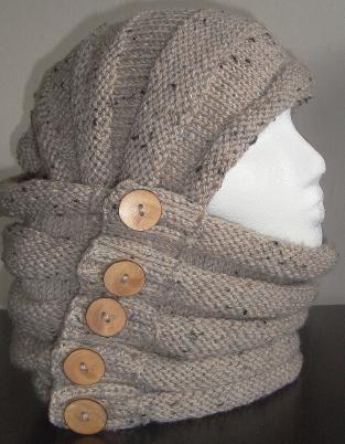 Cowl, Hood, Scarf, Shrug (Knitted-Beginner)