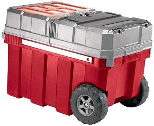 Keter New Masterloader Plastic Portable Rolling Organizer Tool Box Storage Solution $48.21