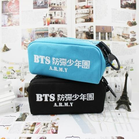 Bangtan Boys BTS A.R.M.Y KPOP School Canvas Vintage Pencil Case. #BangtanBoys #BTS #A.R.M.Y #KPOP #School #Canvas #Vintage #PencilCase
