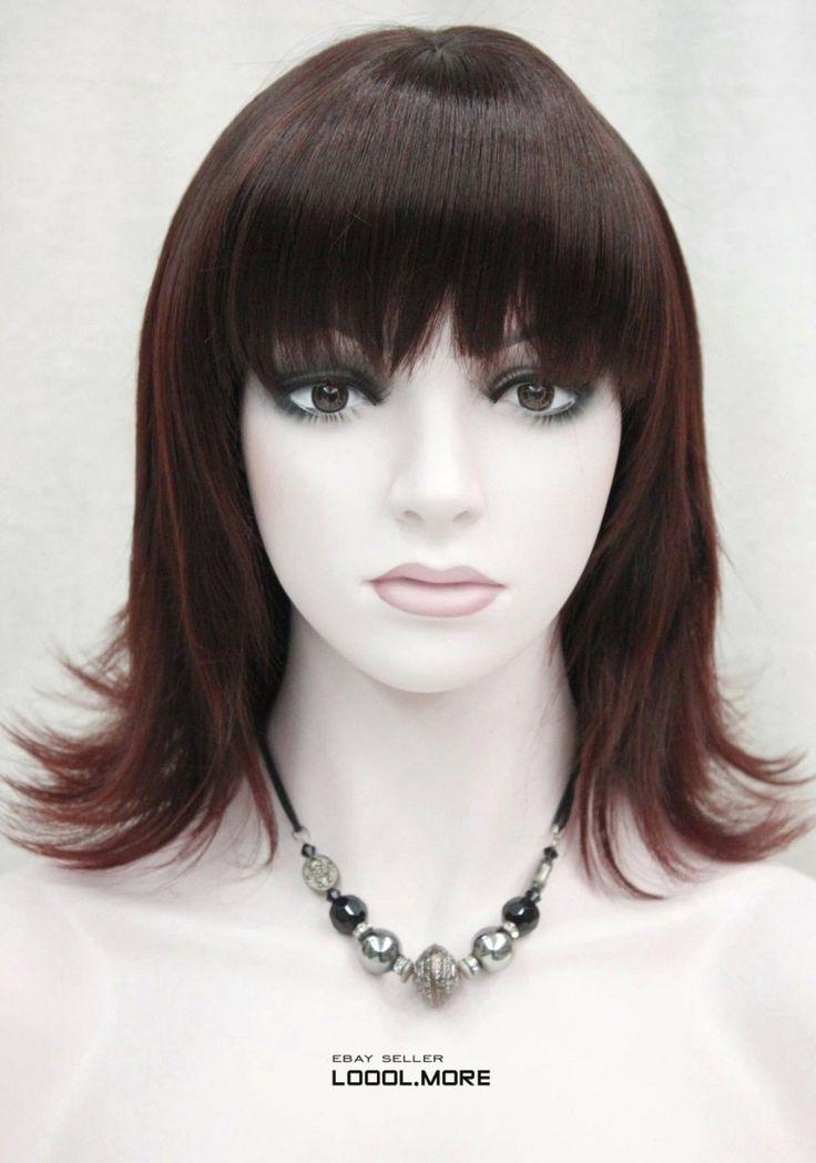 Природа Черный и Темно-Каштановые Смешанные Прямые Волосы Anti-алиса Женщин Синтетический Парик FTLD226 Дамы Тепловыделения sistant Синтетических волос парики