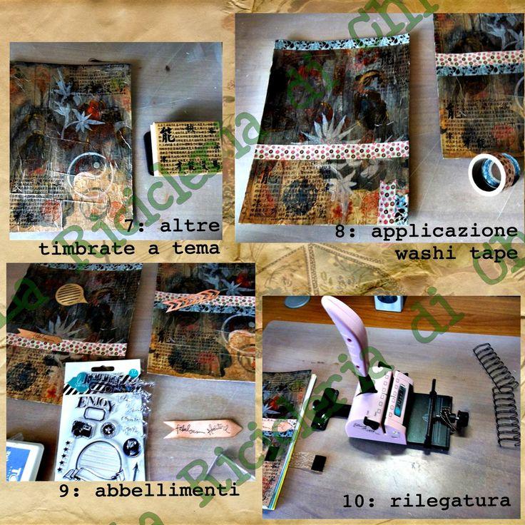 La Ricicleria di Chi: Uno smash journal realizzato con materiali di scarto: ecco il tutorial fotografico.