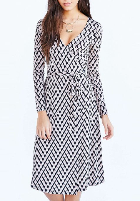 Fashion houndstooth pattern print fit office lady long dresses