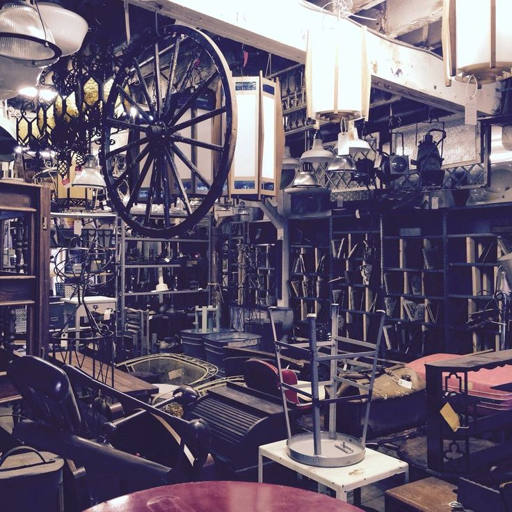 Detroit Antique Mall - 828 W Fisher Fwy.  Detroit - Oh, the things you'll find inside this vast antique mall! You'll spend hours perusing lighting fixtures, art, and furniture. They even have a huge collection of vintage door knobs! Photo via Yelp user Shelly A.