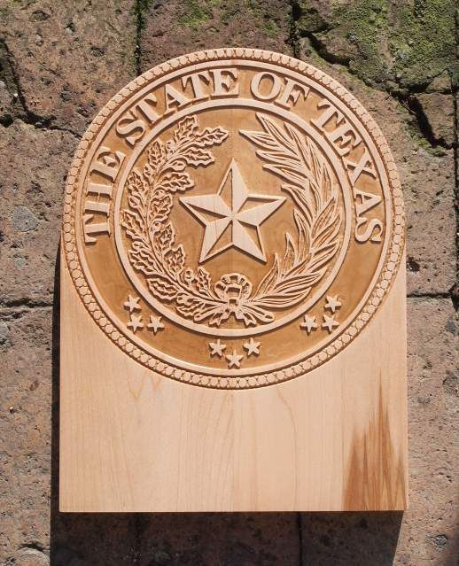 Fregio stemma the state of texas
