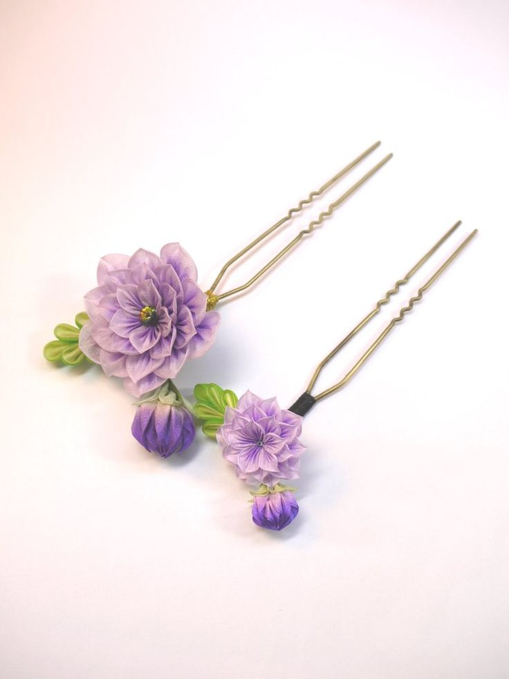 Traditional japanese tsumami kanzashi