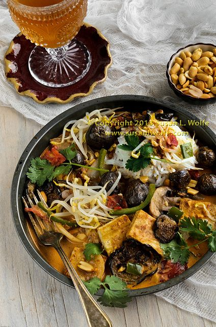 Grilled Tofu Massaman Curry with Blue Potatoes #recipe #coconutmilk # ...