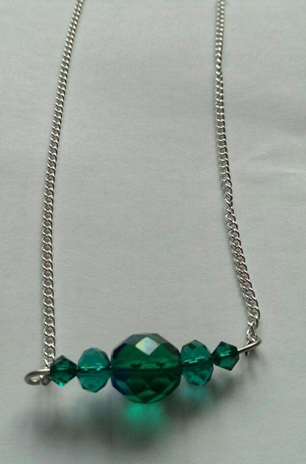 Emerald Necklace (Swarovski, Czech and Quartz crystals)