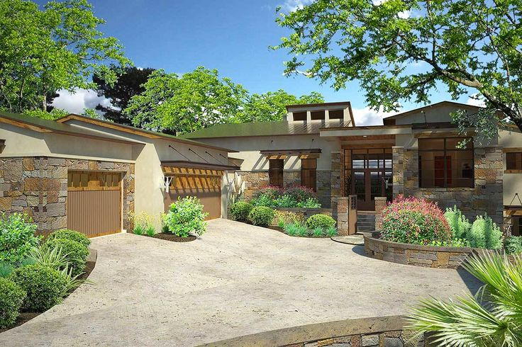 Plan 16888WG: Contemporary Hill Country House Plan