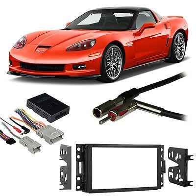Dashboard Installation Kits: Fits Chevy Corvette 2005-2013 Double Din Harness Radio Install Dash Kit BUY IT NOW ONLY: $96.99