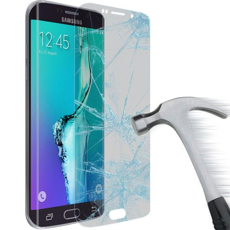 Full Screen Tempered Glass Screen Protector, Clear/Silver