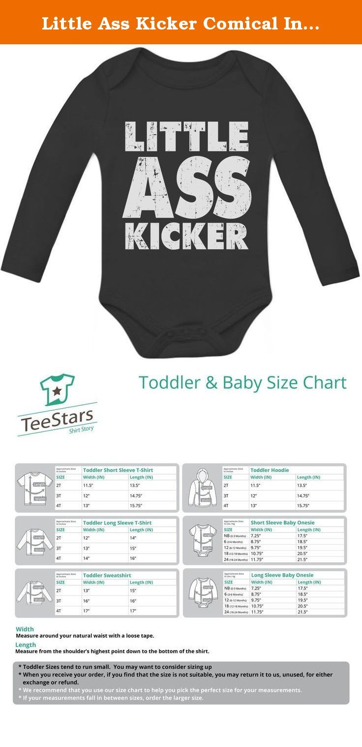 Little Ass Kicker Comical Infant Gift Idea Unisex Bodysuit Baby Long Sleeve Onesie 6M Black. If your little one would be deemed a little asskicker that this bold T-shirt will show that your kid could survive the zombies or at least make it through an episode of walking of the dead without falling asleep. Entertaining and comical T-Shirt that will provide amusement for all the family. . Premium quality, long sleeve baby onesie. 100% combed-cotton (preshrunk,) machine washable, cozy…