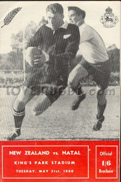 Rugby History today 31/05 in 1960: Natal 6-6 New Zealand ✈ All Blacks held at…