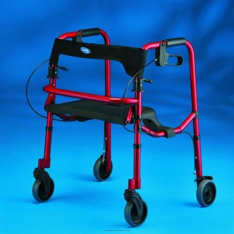 "(EA) Rollite(r) Rollator with 5"" Wheels by INVACARE CORPORATION. $136.47. Color~Red^Style~Adult^Seat to Floor Height~19"" - 23""^Height Adjusts~32"" - 36""^Fits Users~5' 4"" - 6'. Product is sold on this unit of measure - EA. With its innovative lightweight design, the Rollite offers a flip-up seat with a built-in handle, flexible backrest, ergonomic dual paddle folding mechanism and hand brakes. 5 year limited warranty on brakes, 1 year limited warranty on components, none on ti..."