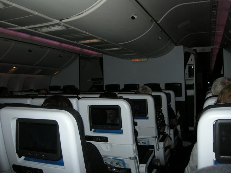 The flight to New Zealand