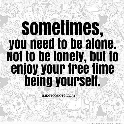 how to live alone and not be lonely