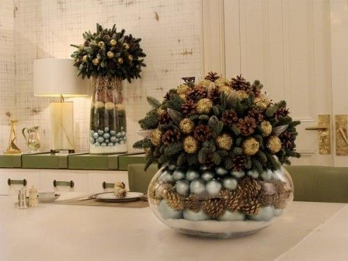 Christmas Decorating Ideas-flower for toptable