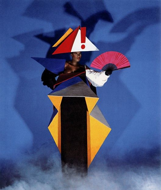 Jean-Paul Goude and Antonio Lopez, Maternity dress for Grace Jones, 1979 © Jean-Paul Goude