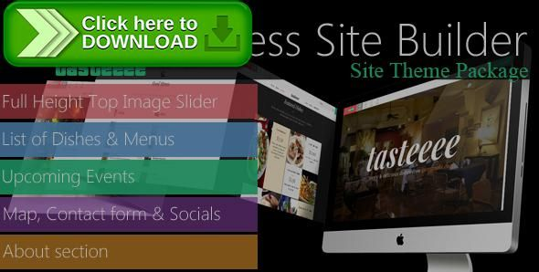 [ThemeForest]Free nulled download gomymobiBSB's Site Theme Package: Tasteeee from http://zippyfile.download/f.php?id=44634 Tags: ecommerce, dishes html website, foody HTML site maker, restaurant HTML landing page, restaurant website creator