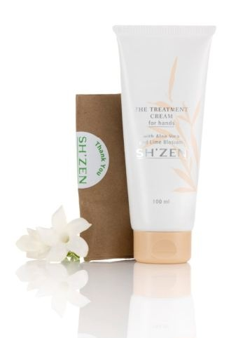 Massage your hands using the Sh'Zen Treatment Cream for Hands. Apply 5ml to one hand and massage firmly. After five minutes, repeat the process on the other hand. Apply more cream, cover hands with gloves and wrap in a warm towel. The warmth aids the penetration of the active ingredients and gives skin an intensive moisture boost.   http://www.shzen.co.za/hands_moisturising.php