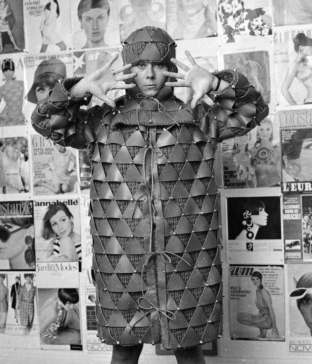 Paco Rabanne - Manteau - Triangles de Cuir - 1966