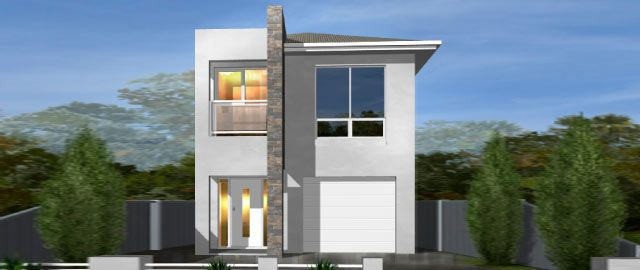 The Siena Facade Option 01 - from the Weeks Peacock Homes Urban Style Range. A small block shouldn't mean the sacrifice of living space. Suited to a block as narrow as just 8 meters, space is maximised in the clever design of the Siena.