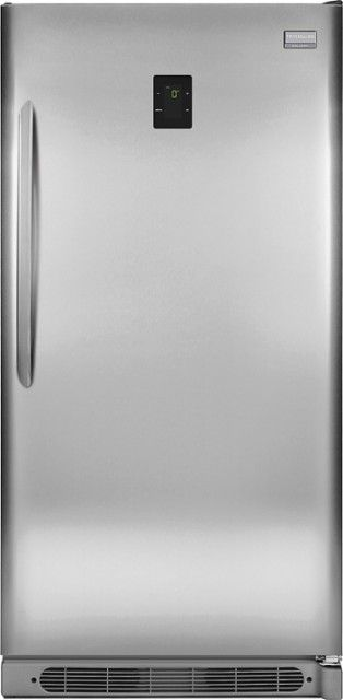 Frigidaire - Gallery 17.0 Cu. Ft. Frost-Free 2-in-1 Upright Freezer or Refrigerator - Stainless Steel - Front_Zoom